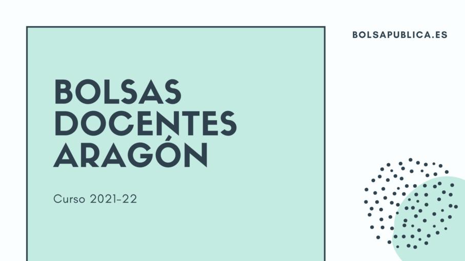 Bolsas docentes en Aragón curso 2021 - 22