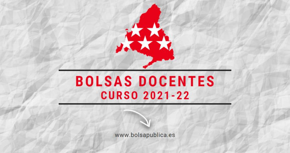 Bolsas docentes Comunidad de Madrid 2021-22